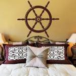 Nautical Ships Wheel Vinyl Wall Dec..