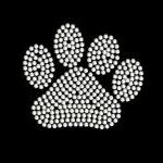 Rhinestone Paw Print Iron On Transf..