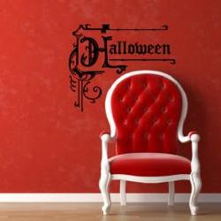Halloween Ornate Decorative Vintage Style Removeable Vinyl Wall Decal 22207
