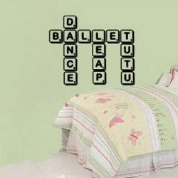 Ballet Dance Scrabble Tile Wall Decal 22154