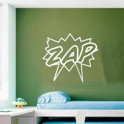 "Zap Comics Super Hero Childrens Room Vinyl Wall Decal 21""W x 19""H 22187"