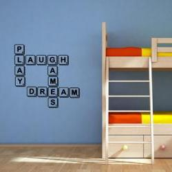 Wall Decal Scrabble Tile Dream Laugh Play Games Vinyl Wall Decal 22141