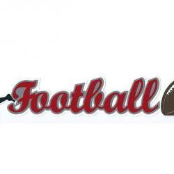 Custom Football Title Extra Large Die Cut Paper Piecing Scrapbook Embellishment 16099