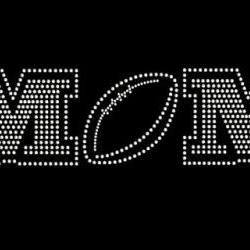 Football Mom Rhinestone Transfer Bling 34044